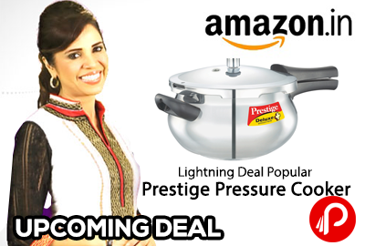 Lightning Deal : Prestige Popular Aluminium Pressure Cooker, 2 Litres (amazon.in)
