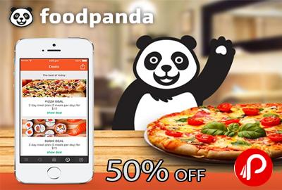 FoodPanda 50% off + 1% off