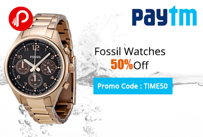 Fossil Watches 50% Off on Paytm