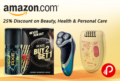 25% Discount on Beauty, Health & Personal Care