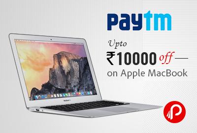 Apple MacBooks Extra upto Rs. 9999 Cashback – PayTm