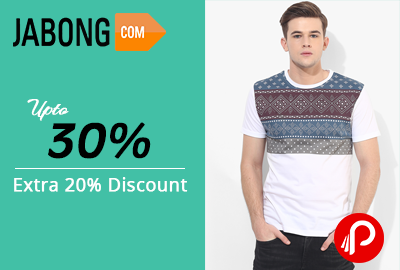Up to 30% and Extra 20% Discount on Men Polos & Tees - Jabong