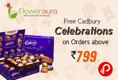 Free Cadbury Celebrations worth Rs. 235 on Orders above Rs. 799 - Floweraura