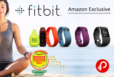 Get GiftCard Up to Rs 2800 on Fitbit Trackers Wristband - Amazon
