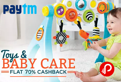 Flat 70% Cashback on Toys & Games - Paytm