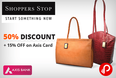 Get UPTO 50% off + 15% off by Axis Card on Hidesign and Holi Bags & Accessories - ShoppersStop