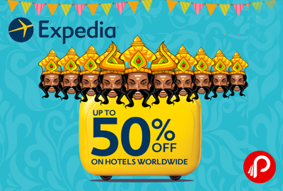 Get Extra UPTO 50% off on Hotels - Expedia