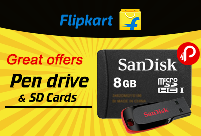 Great offers Pen drive & SD Cards - Flipkart