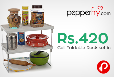 Get Foldable Rack set in Rs.420 only - Pepperfry