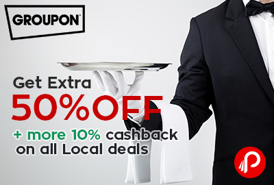Get Extra 50% off on all Local deals -Groupon (NearBuy)
