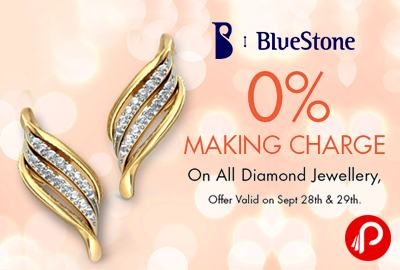 Get All Diamond Jewellery on 0% Making charge - Bluestone