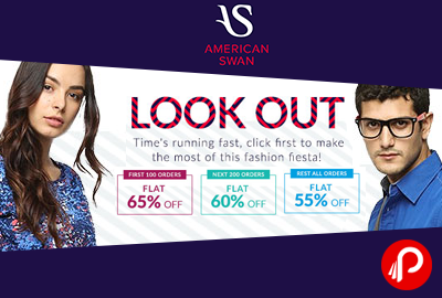 Get Flat 65% OFF on orders of Rs.1899 & Above First 100 orders - American Swan