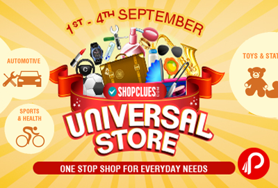 Get UPTO 90% Discount on Universal Store - Shopclues