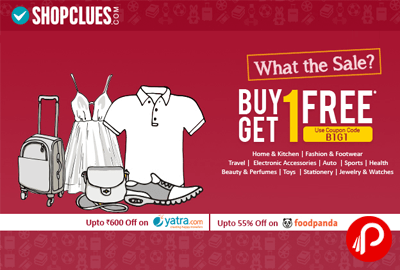 Get 1 Free on Buy 1 on all categories - Shopclues