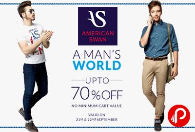 Get UPTO 70% off on Men Wear Sale - American Swan