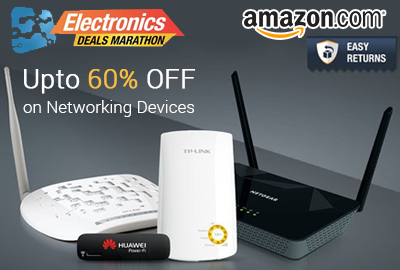 Get UPTO 60% off on Networking Devices - Amazon
