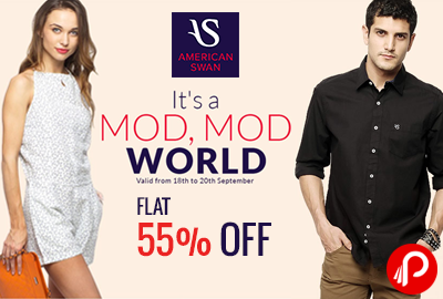 Get Flat 55% Off on Orders of Rs.1299 & Above - American Swan