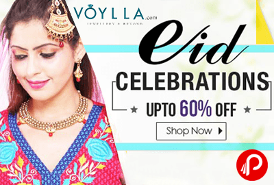 Get UPTO 60% Off on Jewellery on this Eid Celebrations - Voylla