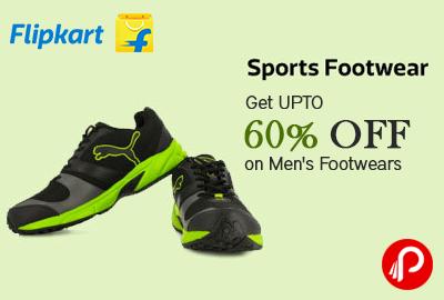 Get UPTO 60% off on Men's Footwears - Flipkart