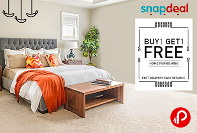 Get 1 Free on Buy 1 Home Furnishing Products - Snapdeal