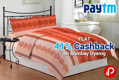 Bombay Dyeing Flat 41% Cashback - Paytm