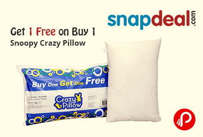 Get 1 Free on Buy 1 Snoopy Crazy Pillow - Snapdeal