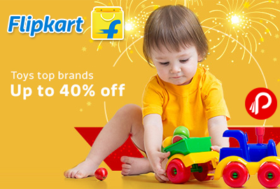 Get UPTO 40% off on Top Brands Toys - Flipkart