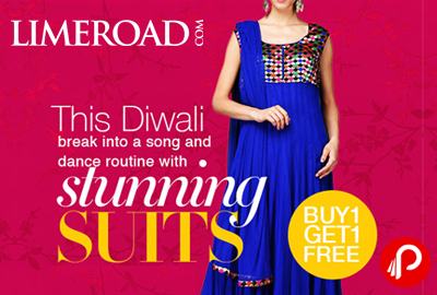 Celebrate Diwali Buy 1 Get 1 Free With Stunning Suits - Limeroad.com