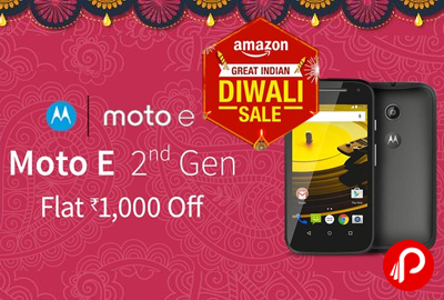 Get Flat 1000 off Moto E 2nd Generation - Amazon