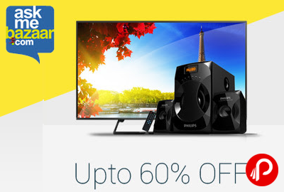 Get UPTO 60% off on TV, Audio Video - AskMeBazaarq