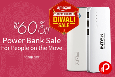 UPTO 60% off Power Bank Sale - Amazon