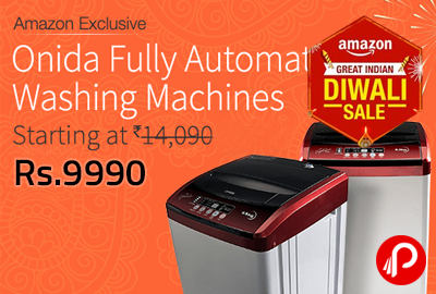 Onida Fully Automatic Washing Machines Starting at Rs. 9990 - Amazon