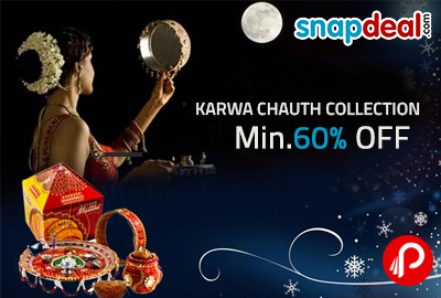 Get Minimum 60% off on Karwa Chauth Collection – Snapdeal