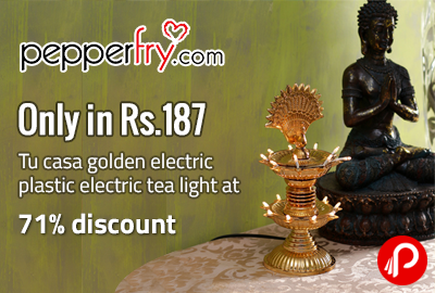 Only in Rs.187 Tu casa golden electric plastic electric tea light at 71% discount
