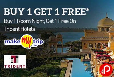 Buy 1 Get 1 Free on Trident Hotels - MakeMyTrip