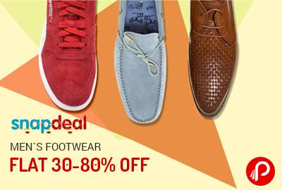 Get Flat 30-80% off on Men's Footwear - Snapdeal