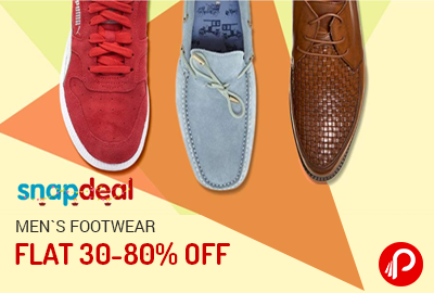 6e0b15965f9 Get Flat 30-80% off on Men s Footwear - Snapdeal
