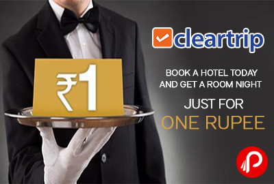 Get 1 night Just in One Rupee, Book 2 Nights and get one free - Cleartrip
