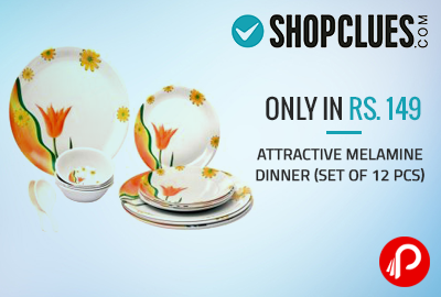 Attractive Melamine Dinner (Set of 12 pcs) Only in Rs. 149 - Shopclues