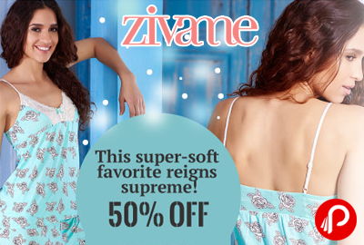 Get Flat 50% off on Premium Quality Nightwear - Zivame