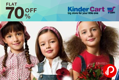 Flat 70% OFF on International Kidswear Brands - Kinder Cart