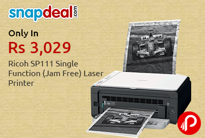 Get 53% OFF Ricoh SP111 Single Function (Jam Free) Laser Printer - Snapdeal
