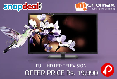 Get Micromax Full HD 81cm (32) Full HD LED Television only in Rs.16990 - Snapdeal