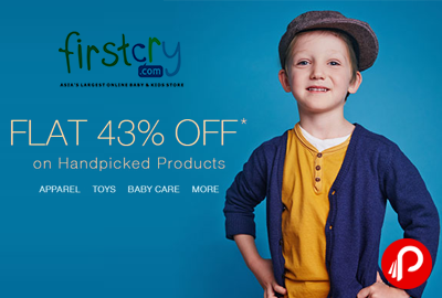 Get Flat 43% OFF* on Handpicked Products - FirstCry
