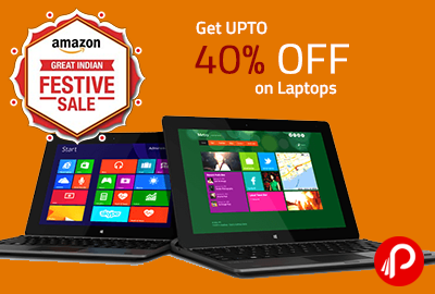 Get UPTO 40% OFF on Laptops - Amazon