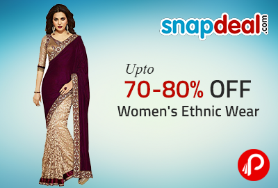 Get 70-80% off Women's Ethnic Wear - Snapdeal