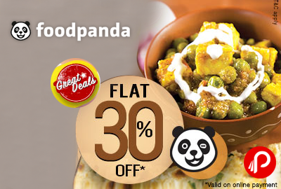 Get Flat 30% off on Online Payment - FoodPanda