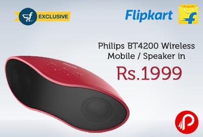 Philips BT4200 Wireless Mobile / Speaker in Rs.1999 - Flipkart