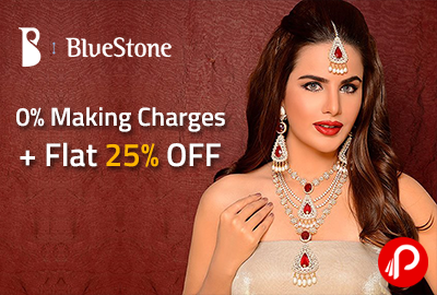0% Making Charges+ Flat 25% OFF - Bluestone