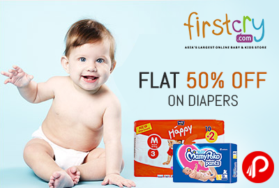 Flat 50% OFF on Diapers - Firstcry